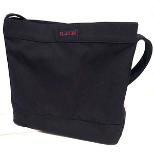 ST. JOHN Small Navy Canvas Tote